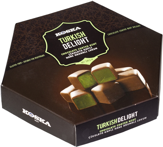 TURKISH DELIGHT - CHOCOLATE COATED MINT - 140GM