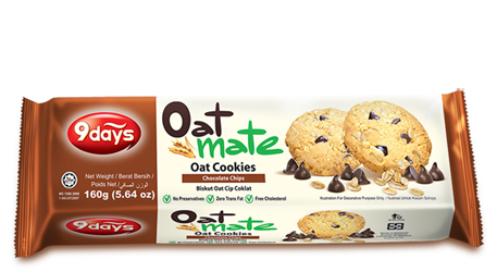 Oat Cookies - Chocolate Chips - 160GM