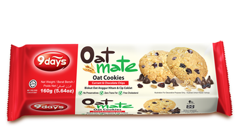 Oat Cookies - Currant and Chocolate Chips - 160GM
